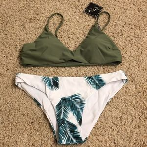 Palm Fronds Green Bikini